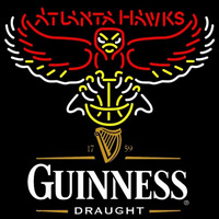 Guinness Draught Atlanta Hawks NBA Beer Sign Neon Sign
