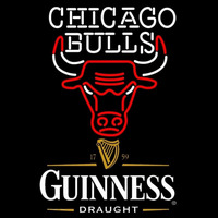 Guinness Draught Chicago Bulls NBA Beer Sign Neon Sign
