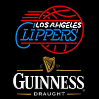 Guinness Draught Los Angeles Clippers NBA Beer Sign Neon Sign