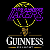 Guinness Draught Los Angeles Lakers NBA Beer Sign Neon Sign
