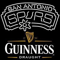 Guinness Draught San Antonio Spurs NBA Beer Sign Neon Sign