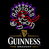 Guinness Draught Toronto Raptors NBA Beer Sign Neon Sign