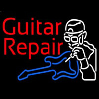 Guitar Repair  Neon Sign