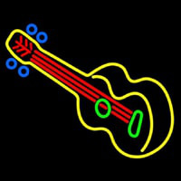 Guitar Strings  Neon Sign