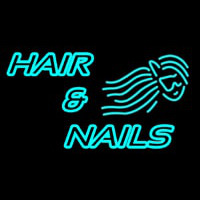 Hair And Nails Double Stroke Neon Sign