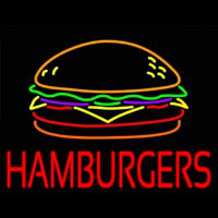 Hamburgers Neon Sign