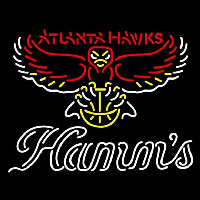 Hamms Atlanta Hawks NBA Beer Sign Neon Sign