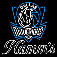 Hamms Dallas Mavericks NBA Beer Sign Neon Sign