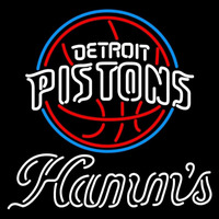 Hamms Detroit Pistons NBA Beer Sign Neon Sign