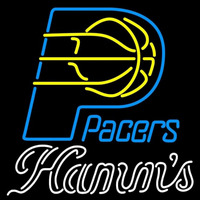 Hamms Indiana Pacers NBA Beer Sign Neon Sign