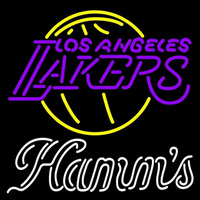 Hamms Los Angeles Lakers NBA Beer Sign Neon Sign