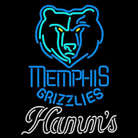 Hamms Memphis Grizzlies NBA Beer Sign Neon Sign