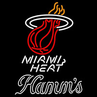 Hamms Miami Heat NBA Beer Sign Neon Sign