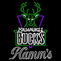 Hamms Milwaukee Bucks NBA Beer Sign Neon Sign