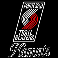 Hamms Portland Trail Blazers NBA Beer Sign Neon Sign