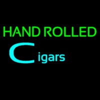 Hand Rolled Cigars Neon Sign