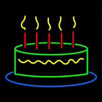 Happy Birthday Cake Neon Sign