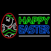 Happy Easter 3 Neon Sign