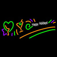 Happy Holidays Neon Sign