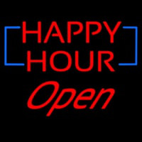 Happy Hour Open Neon Sign