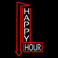 Happy Hour With Arrow Neon Sign