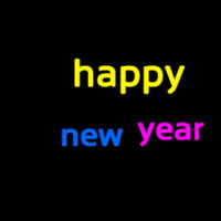 Happy New Year 1 Neon Sign
