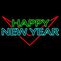 Happy New Year Logo 1 Neon Sign