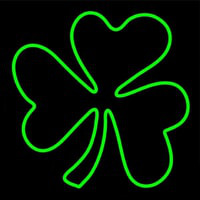Happy St Patricks Day Shamrock Neon Sign