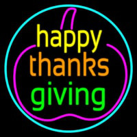 Happy Thanksgiving 2 Neon Sign