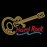 Hard ROCK LIVE MUSIC Guitar Party Neon Sign