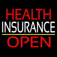 Health Insurance Open Neon Sign