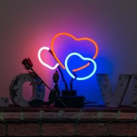 Hearts Desktop Neon Sign