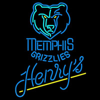 Henrys Memphis Grizzlies NBA Beer Sign Neon Sign