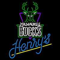 Henrys Milwaukee Bucks NBA Beer Sign Neon Sign