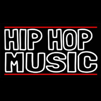 Hip Hop Music With Line Neon Sign