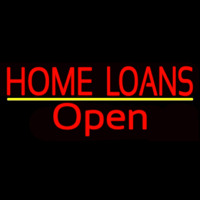 Home Loans Open Neon Sign