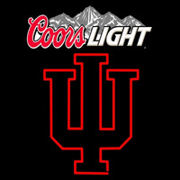 Hoosiers Indiana With Coors Light Logo Neon Sign Neon Sign