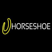 Horse Shoe Block Logo Neon Sign
