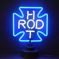 Hot Rod Cross Desktop Neon Sign