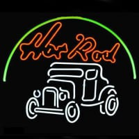 Hot Rod Hotrods Logo Auto Car Dealer Neon Sign