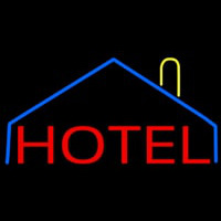 Hotel With Symbol Neon Sign