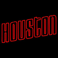 Houston Rockets Wordmark 1972 73 1994 95 Logo NBA Neon Sign Neon Sign