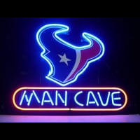 Houston Texans Man Cave Nfl Football Neon Sign