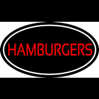 Humburgers Oval Neon Sign