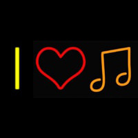 I Love Music Neon Sign