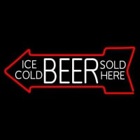 Ice Cold Beer Sold Here Neon Sign