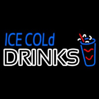 Ice Cold Drinks Neon Sign