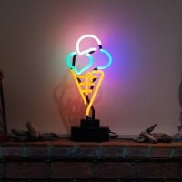 Ice Cream Desktop Neon Sign