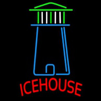 Ice House Light House Art Beer Sign Neon Sign