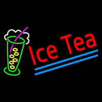 Ice Tea Blue Line Logo Neon Sign
